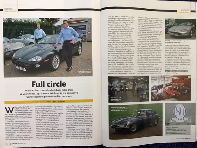 Jaguar World Article On Our Jaguar Sales and Service Departments