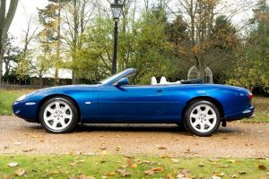 XK8 Convertible 2001 Model In Sapphire Blue and Ivory Leather