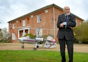 Ken outside his county home in Norfolk with one of the Auto Gyros design and built by him self