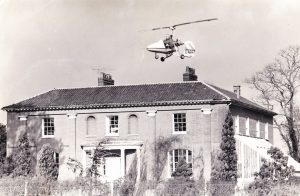 Ken Flying over his county home in Norfolk