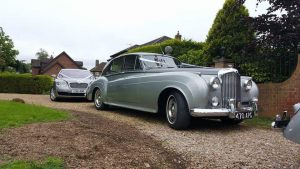 Classic Vintage Bentley S1 Wedding Car For Hire On A Wedding