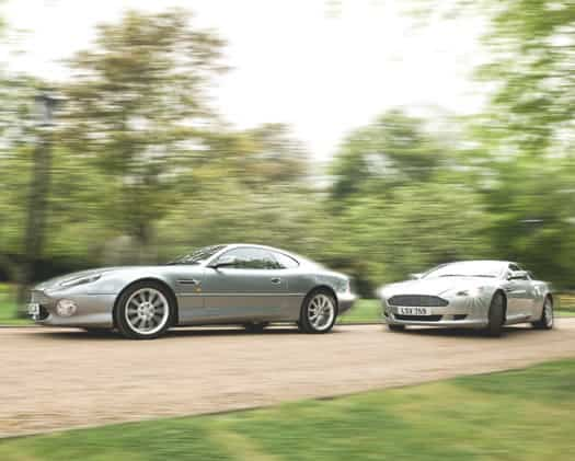 Image of an Aston Martin DB9 Volante.