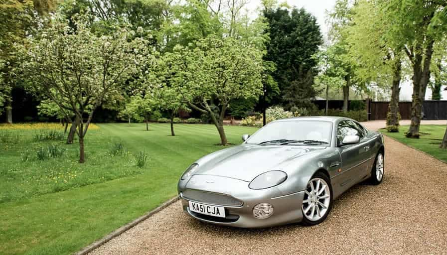 Image of a grey Aston Martin DB7