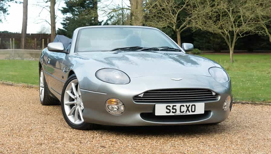 Image of a grey Aston Martin DB7 volante convertible