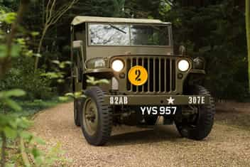Image of a Willy's Army Jeep