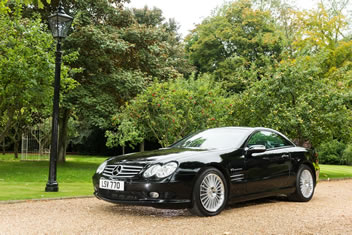 Image of a black Mercedes SL55 AMG