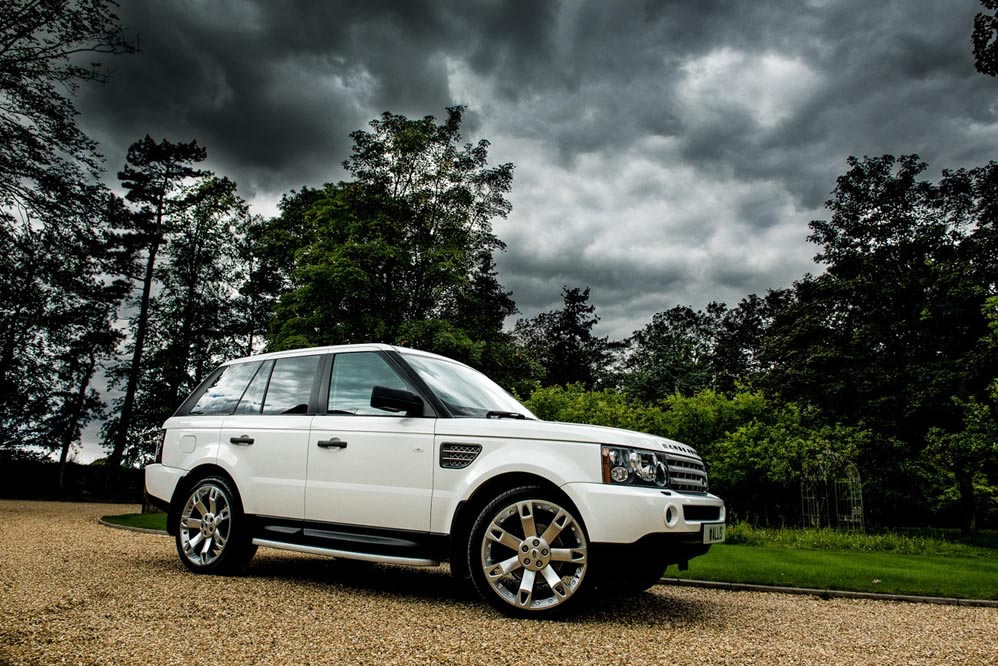White Range Rover Sport Wrapped