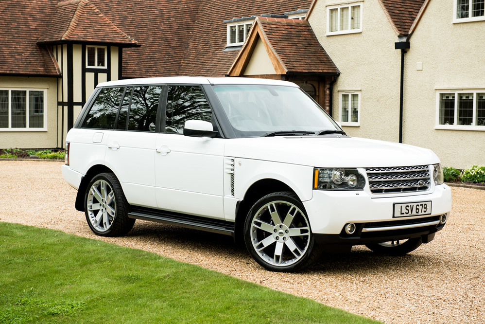 White Range Rover Supercharger Wrapped
