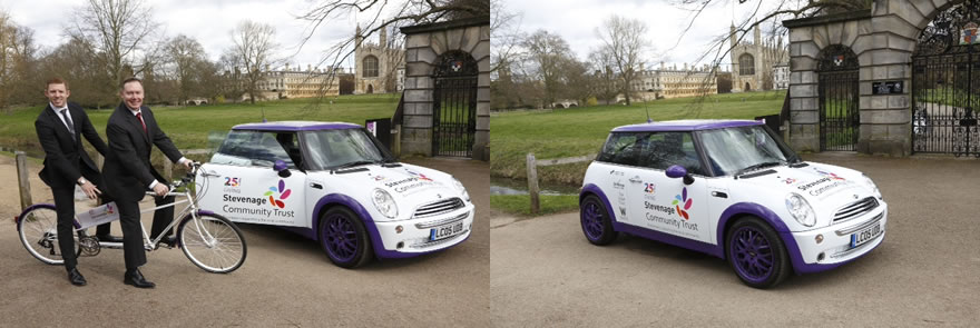 Mini Cooper Stevenage Community Press