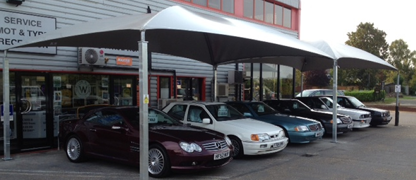 Our New Showroom Canopy.