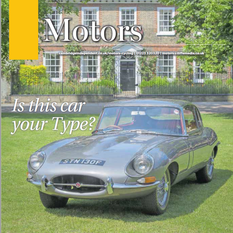 Our E type in The Independent Paper Hire a Classic Car
